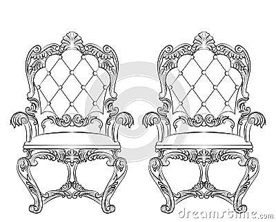 Baroque Rococo Armchair Stock Photo
