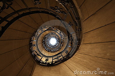 Baroque  stairs in Budapest - Hungary