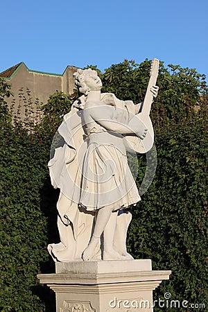 Baroque statue in Vienna