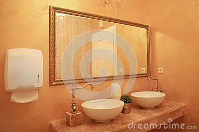 Baroque style bathroom interior