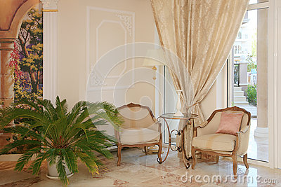 Baroque style hotel interior