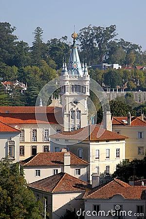 Baroque tower castle in sintra
