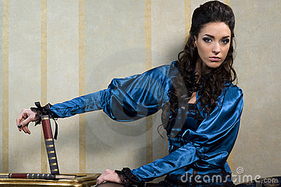 Baroque woman and books