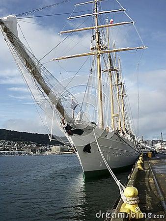 Barquentine tall ship Esmeralda Editorial Photography