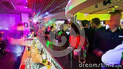 Barra en club Lapso de tiempo almacen de video