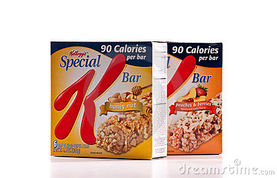 Barra especial do nutriente de Kellogg s K Imagem de Stock Editorial