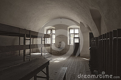 Barracks Room In Terezin Editorial Photography