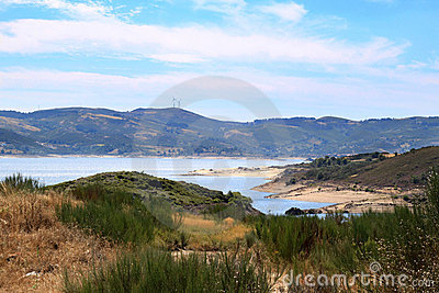 Barragem do Alto Rabagao, a lake in North Portugal