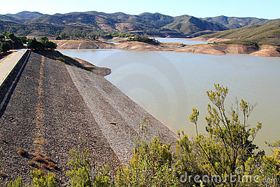 Barragem do Arade in the Algarve, Portugal