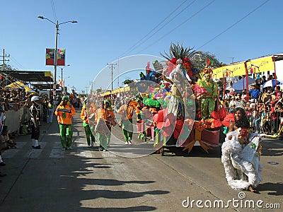 Barranquilla s Carnaval Editorial Image