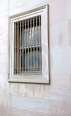 Barred window