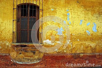 Barred window, Antigua, Guatemala.