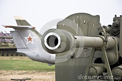 Barrel of the gun.