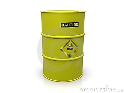Barrel with poison