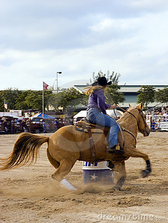 Free Barrel Racing Royalty Free Stock Image - 1875976