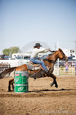 Barrel Racing Editorial Photo
