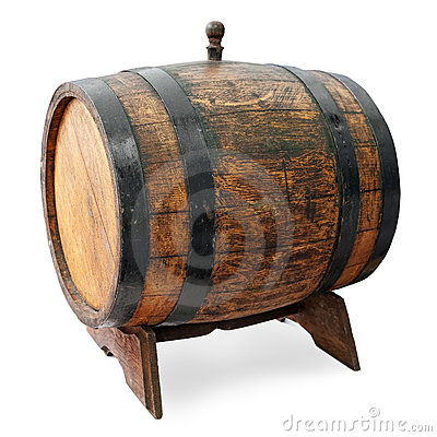 Barrel on stand