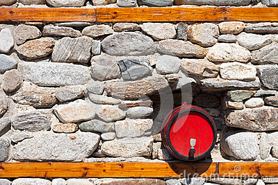 Barrel in a Stone Wall