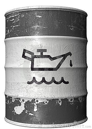 Barrel with a symbol of oil