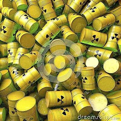 Barrels, casks, drums of nuclear waste