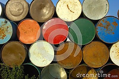 Barrels on end