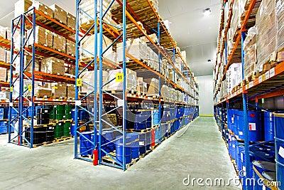 Barrels in rows