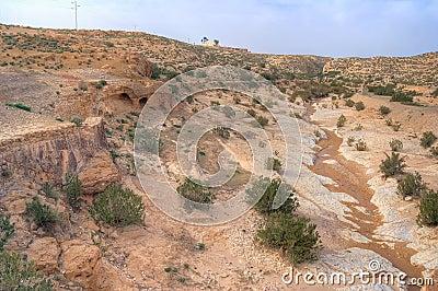 Barren land of Tunisia
