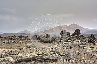 Barren landscape of Timanfaya