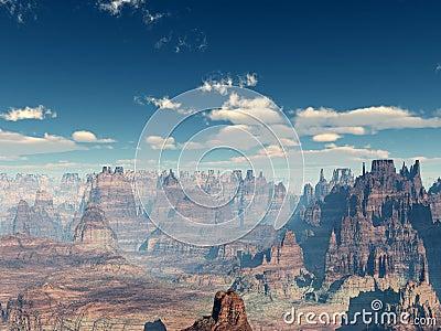 Barren Rocky Landscape