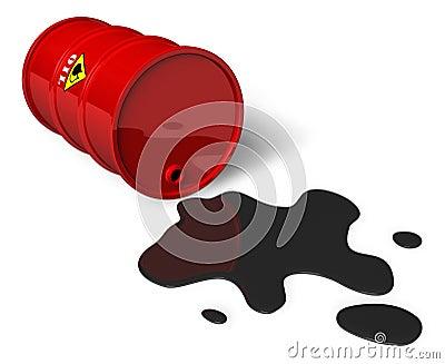 Barril Con Petróleo Derramado Imagen de archivo libre de regalías - Imagen: 13368736