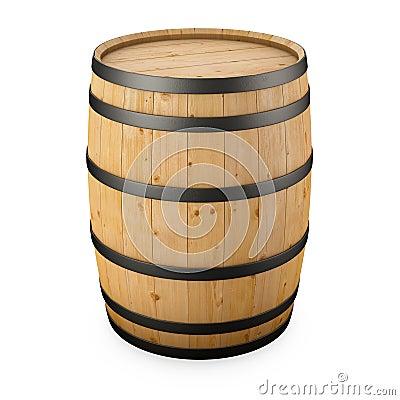 Barril de madera aislado im genes de archivo libres de for Bar barril de madera