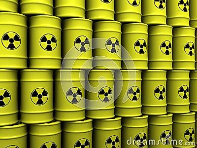 Barriles de la basura tóxica