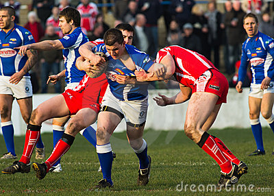 Barrow Raiders  v Leigh Centurions Editorial Stock Image