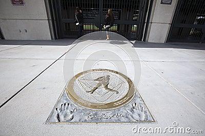 Barry Bonds Home Run Plaque Editorial Photo
