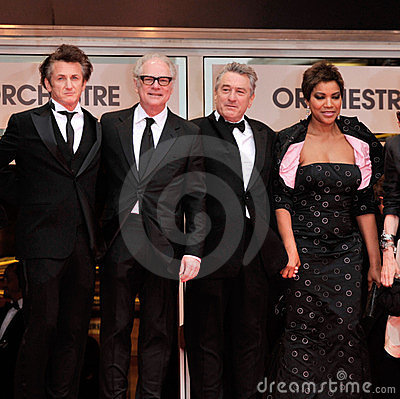 Barry Levinson, Grace Hightower, Robert De Niro, Sean Penn Editorial Stock Photo
