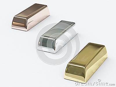 Bars of precious metals