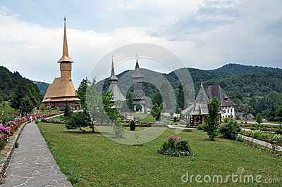 Barsana orthodox wooden monastery complex