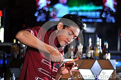 Bartender in actionn