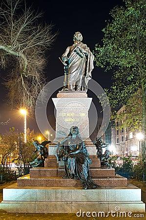Bartholdy statue in Leipzig