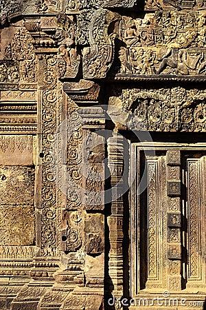 Bas-relief- Angkor, Cambodia