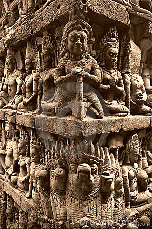Bas relief in Angkor Vat