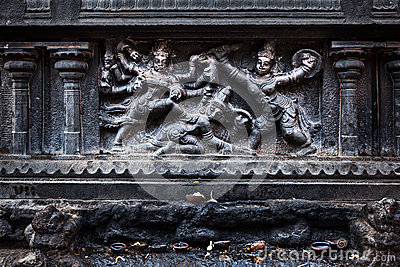 Bas Relief. Brihadishwara Temple, Tanjore Royalty Free Stock Photo - Image: 27559925