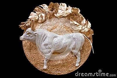 Bas-relief - a bull.