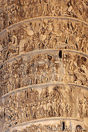 Bas-relief on Column (Rome) Colonna Square