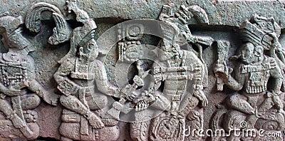 Bas Relief depicting K'inich Yax K'uk' Mo'