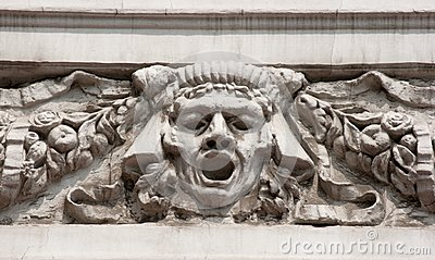 Bas-relief man s face