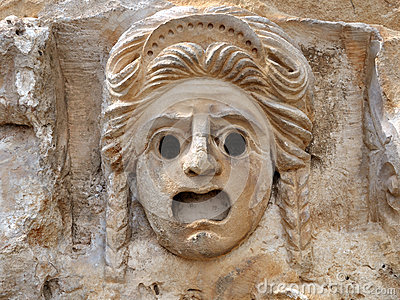 The bas-relief - a mask of stone