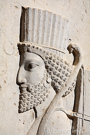 Free Bas-relief Of Persian Soldier From Persepolis, Ira Royalty Free Stock Photos - 3971678