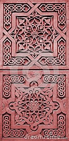 Bas-relief - oriental frame