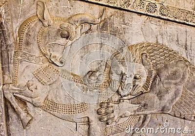 Bas-relief in Persepolis - a  Zoroastrian symbol